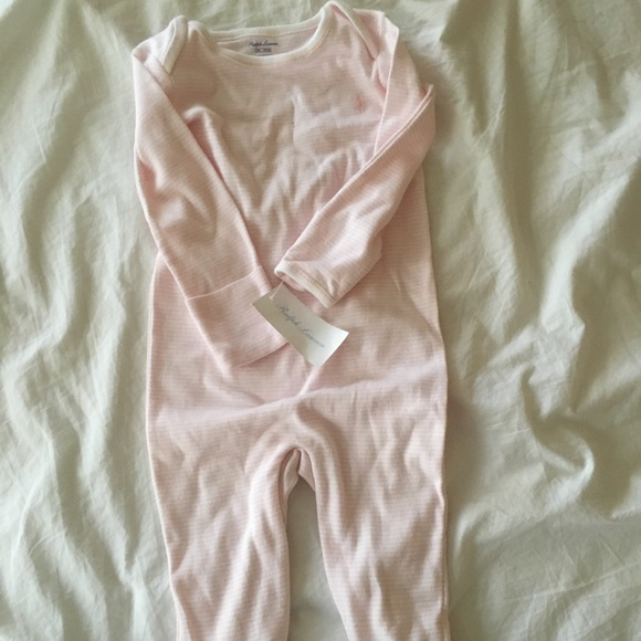 6e3b75c2ce61 Pink stripe footie pjs with mittens